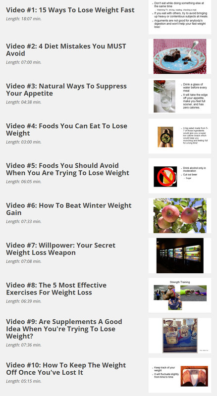 Product picture 10 Hot Videos - Showing How To Lose Weight Sustainably!